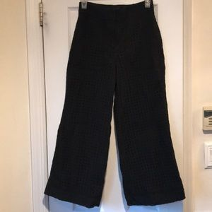 High waisted wide leg crop pant